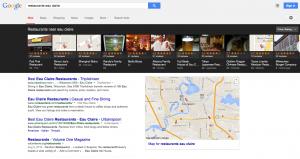 Google Local Search Carousel