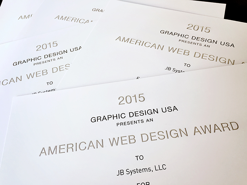 GDUSA Recognizes JB Systems' Custom Web Designs