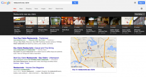 Google Local Search Carousel